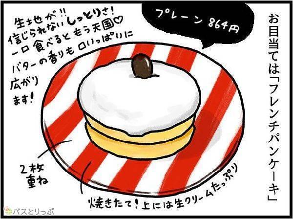 お目当ては「フレンチパンケーキ」