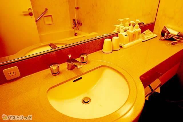 洗面台も清潔で広々