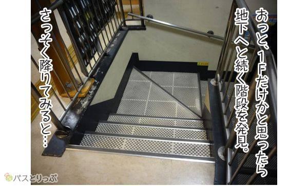 おっと、1Fだけかと思ったら地下へと続く階段を発見。さっそく降りてみると…