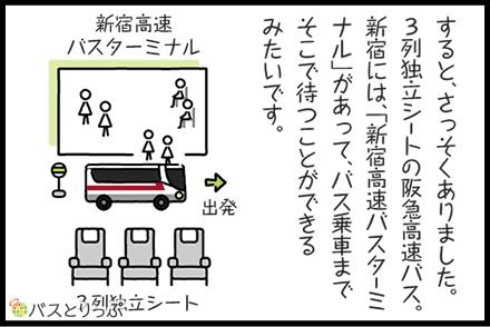 阪急バス(3列独立シート)新宿駅西口→大阪駅(梅田)に乗ってみた~新宿西口すぐから大阪駅(梅田)前まで快適旅~