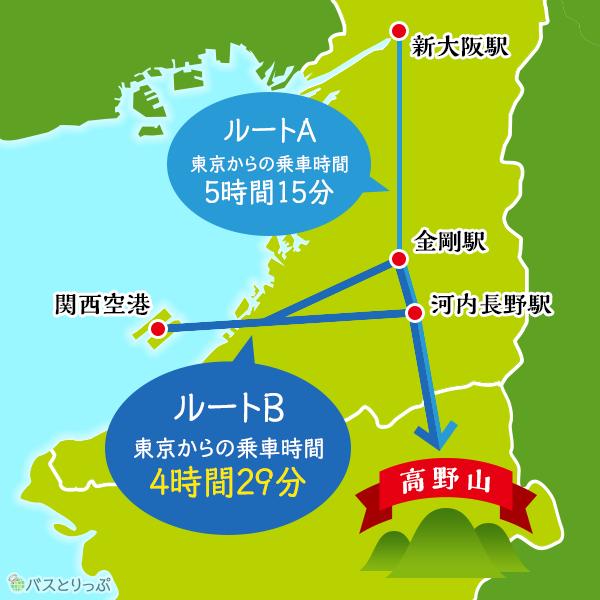 「関西空港・りんくうタウン⇔泉北ニュータウン・金剛駅前・河内長野駅前」を使うと近い